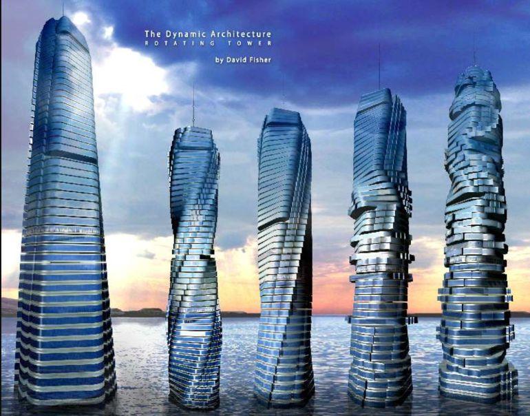 Conoce al primer rascacielos giratorio del mundo