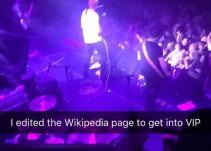 Editó Wikipedia para estar en zona VIP durante concierto...