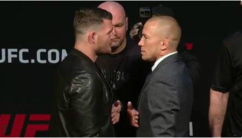 Candente cara a cara entre luchadores de la UFC