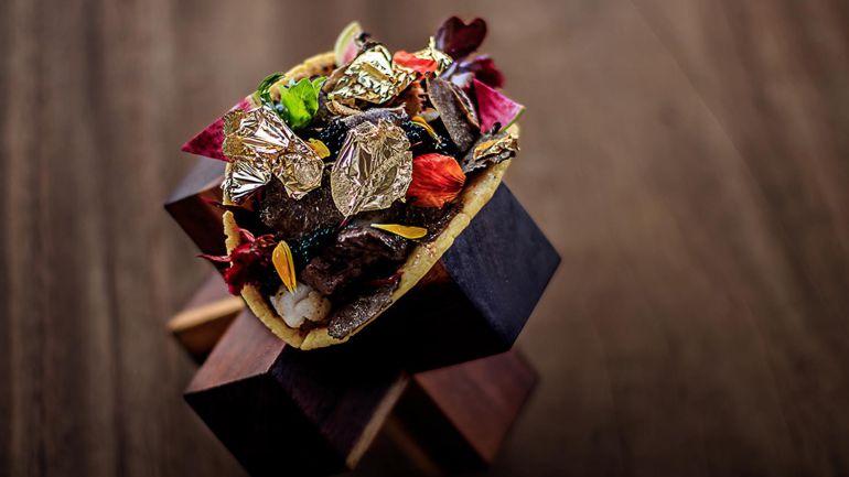 El taco más caro del mundo: por 25.000 dólares puedes comer un taco con hojuelas de oro