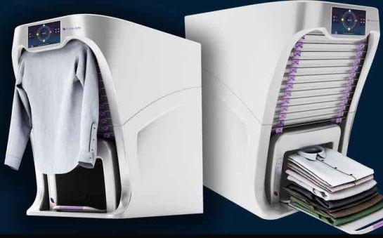 Este robot plancha, dobla y perfuma tu ropa en segundos