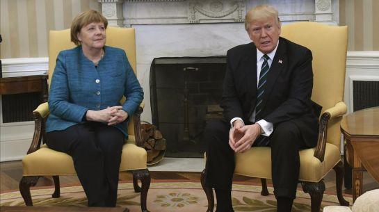 Trump le hace el feo a Angela Merkel