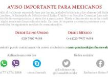 Embajada mexicana activa protocolo de emergencia tras tiroteo en Londres