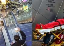 Escalera eléctrica cambia de dirección y deja 18 heridos