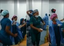 Enfermeras y médicos bailan a media operación