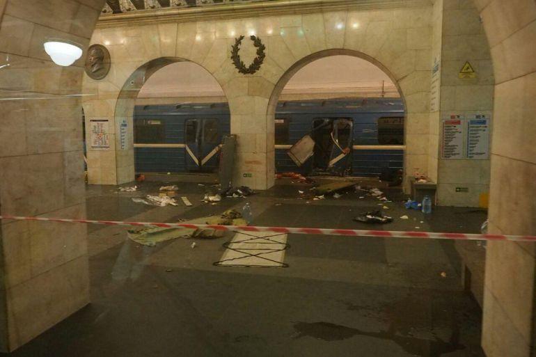 Explosión en el metro de San Petersburgo deja 11 muertos