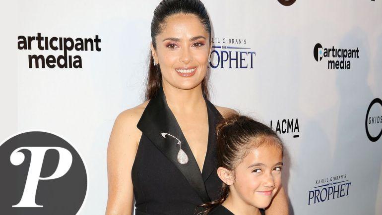 Salma Hayek y su hija comparten el mismo look