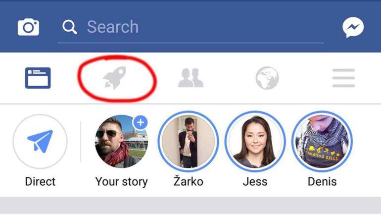 ¿Qué significa el icono de cohete en Facebook?