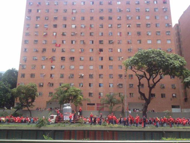 La marcha opositora en Venezuela