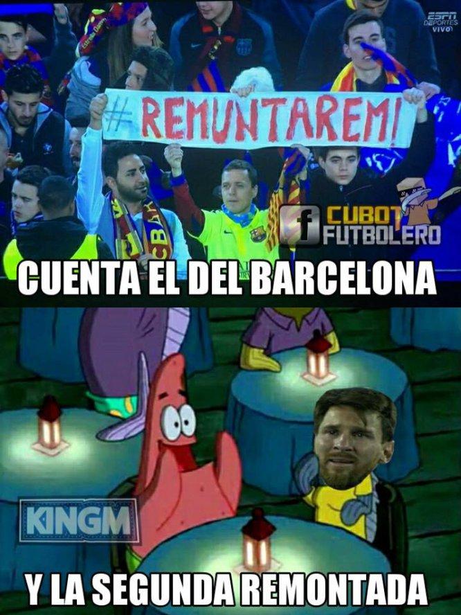 Barcelona es víctima de memes tras quedar fuera de la Champions League