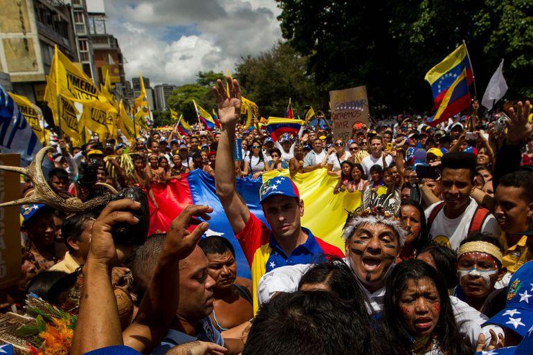 Venezuela: Disturbios y represión durante megamarcha en Venezuela
