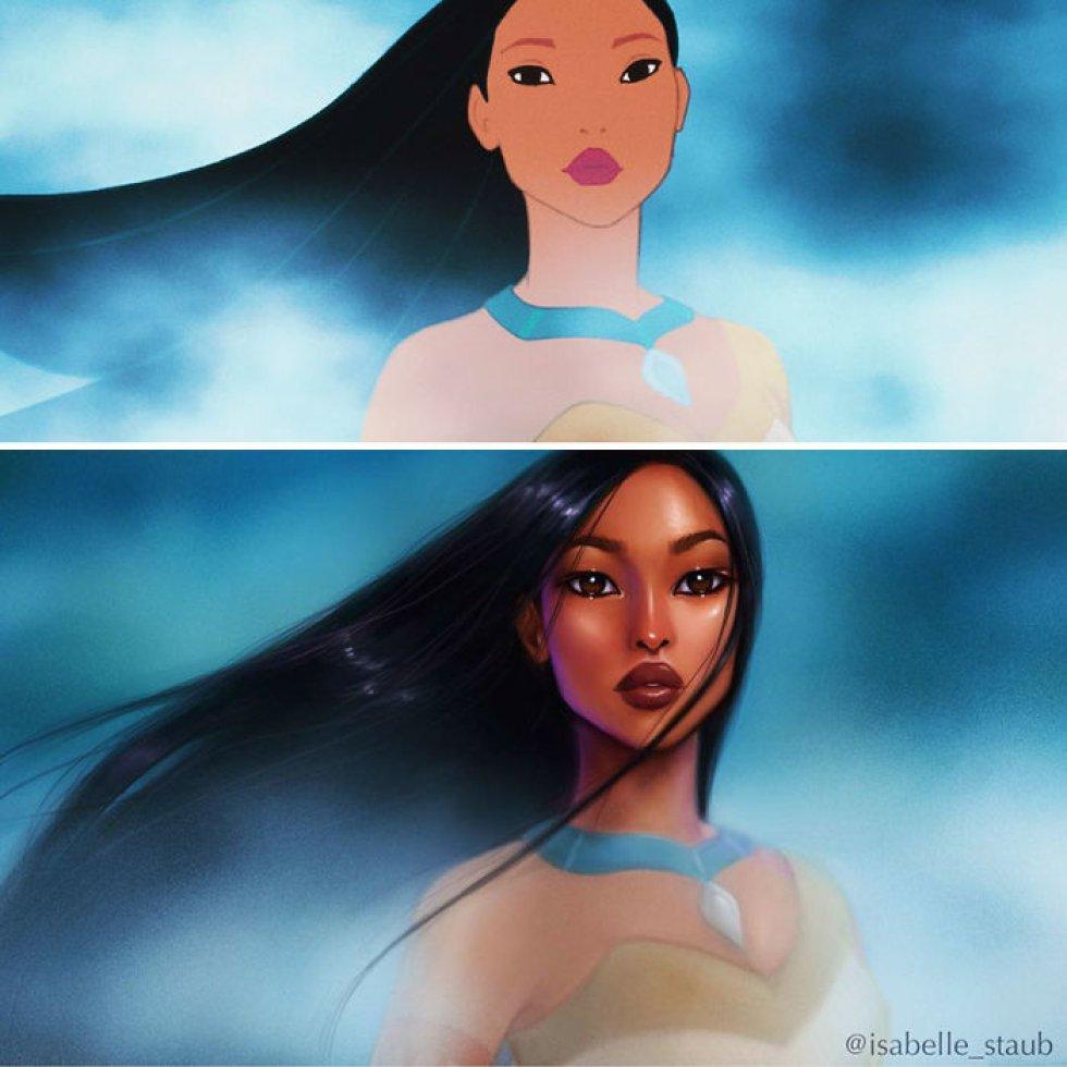 Ilustradora reinterpreta a las princesas Disney para darles un toque más realista