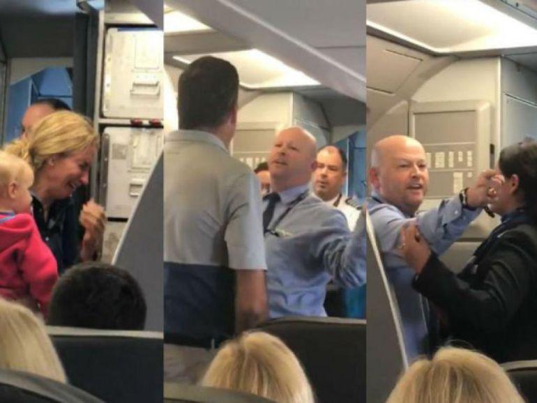 Empleado de American Airlines casi golpea a pasajero