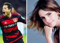 """""""Chicharito"""" Hernández, ¿enamorado de Emma Watson?"""