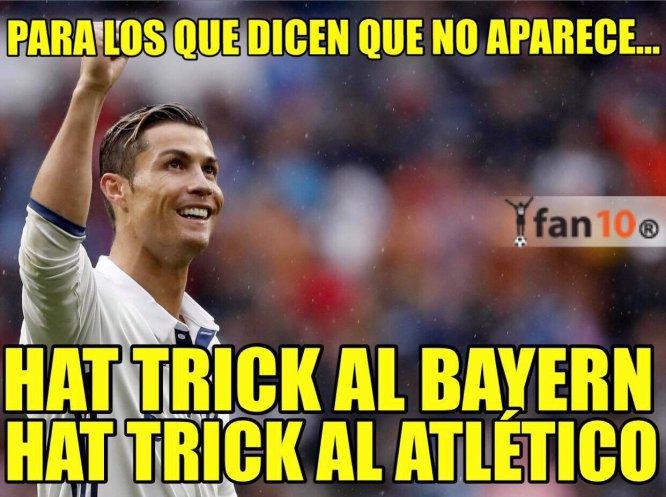 Cristiano Ronaldo se luce contra el Atleti