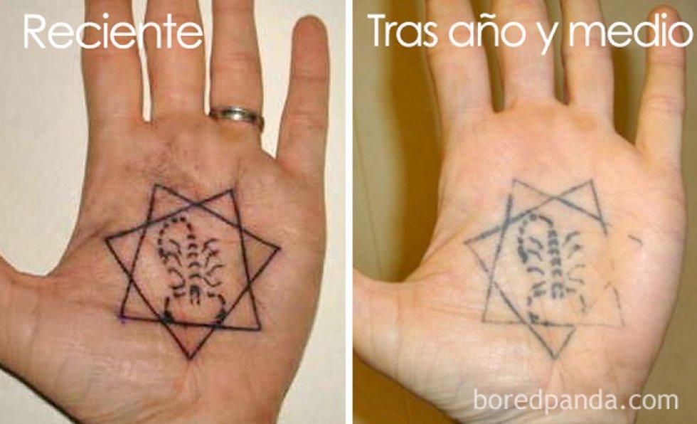 Estas fotos nos muestran cómo se ven los tatuajes con el paso del tiempo