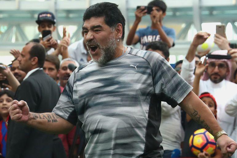 Maradona le manda saludos a Christian Martinoli