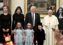 Memes no perdonan la visita de Trump al Vaticano