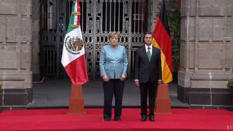 Angela Merkel inicia visita oficial de dos días a México