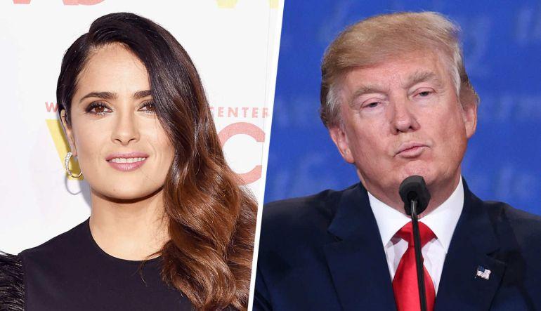 Donald Trump me llamaba y me invitaba a salir: Salma Hayek