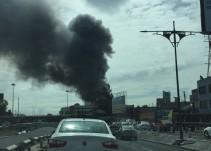 Se registra incendio en fábrica de vinos en Iztacalco