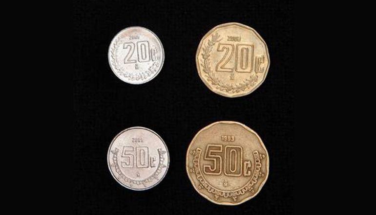 ¿Por qué las monedas de 50 centavos ahora son más pequeñas?