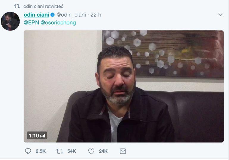 El crítico mensaje del periodista Ciani a Peña Nieto por la violencia