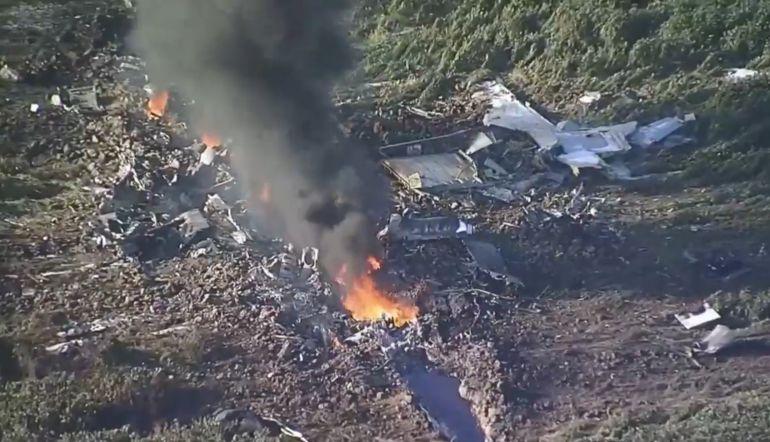 Se desploma avión militar en Estados Unidos