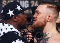 McGregor provoca a Mayweather con una frase en su traje