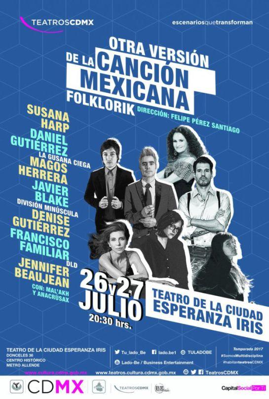 Folklorik, el espectáculo que promete refrescar a la canción mexicana