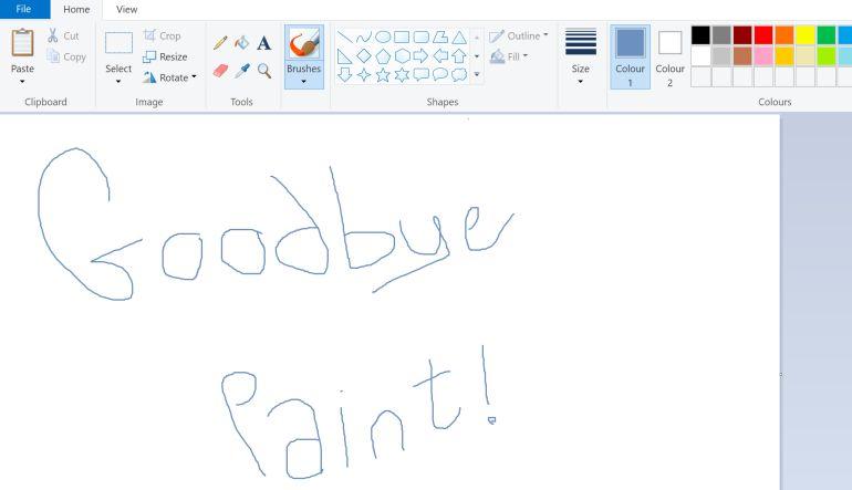 """Paint"" dice adiós"
