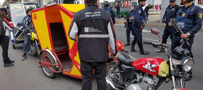 Retiran más de 70 mototaxis en Tláhuac