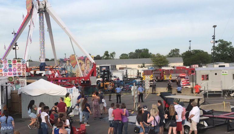 [Video] Falla de juego mecánico en Ohio deja un muerto y siete heridos
