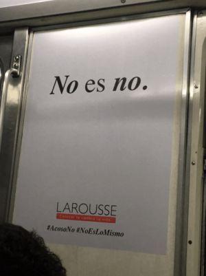 Larousse lanza campaña contra el acoso y machismo en el Metro