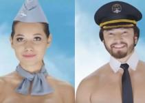 [Video] Azafatas y pilotos posan semidesnudos en polémico comercial