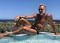Gianluca Vacchi da clases de pasarela y se luce en tacones