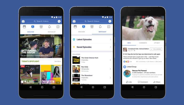 Facebook Watch, la nueva competencia de YouTube