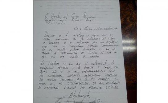 Duarte explica a través de una cara sus razones por las hizo una huelga de hambre