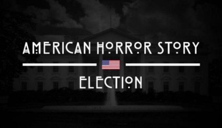 Trump, Clinton, American Horrror Story, Terror, Estados Unidos, Series.: Donald Trump y Hillary Clinton aparecen en opening de American Horror Story