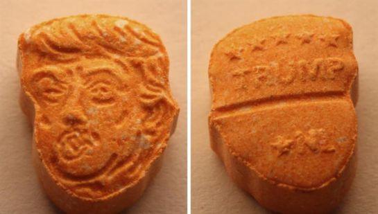 Confiscan pastillas de éxtasis con la cara de Donald Trump en Alemania