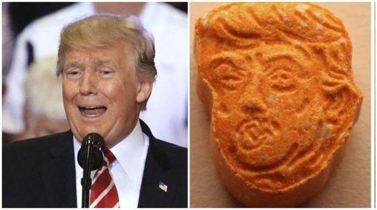 Donald Trump,pastillas éxtasis,Alemania,cara: Incautan pastillas de éxtasis con la cara de Donald Trump