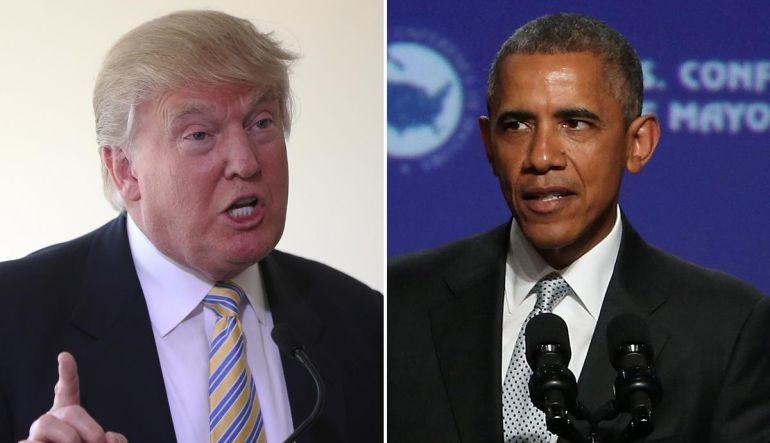"Donald Trump comparte meme en donde ""eclipsa"" a Obama"