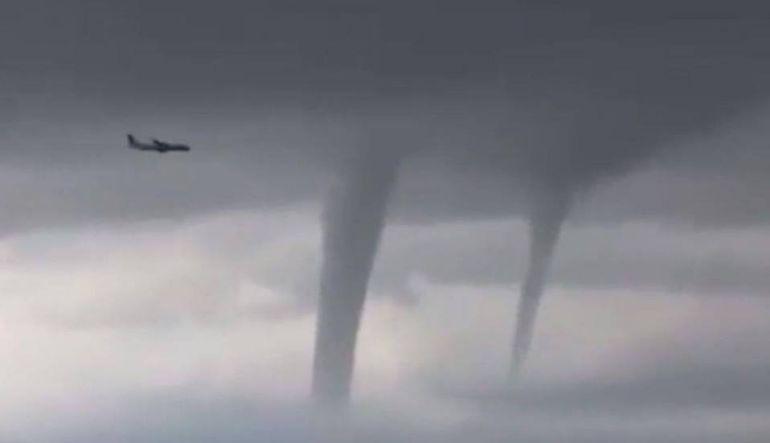 Tornados,Rusia,Vuelos: Avión esquiva tres tornados para aterrizar en Rusia