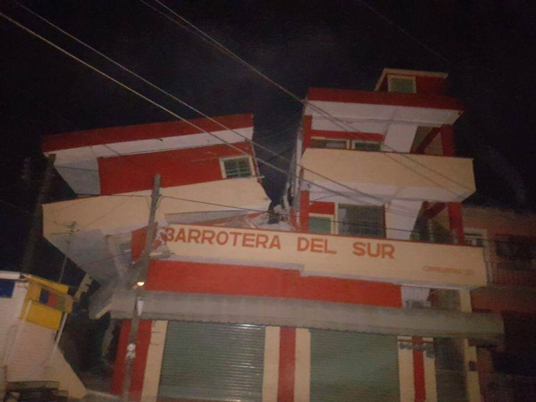 Sismo de 8.2 sacude a México