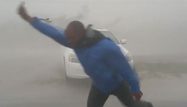[VIDEO] Caza tormentas enfrenta huracán 'Irma' en Florida