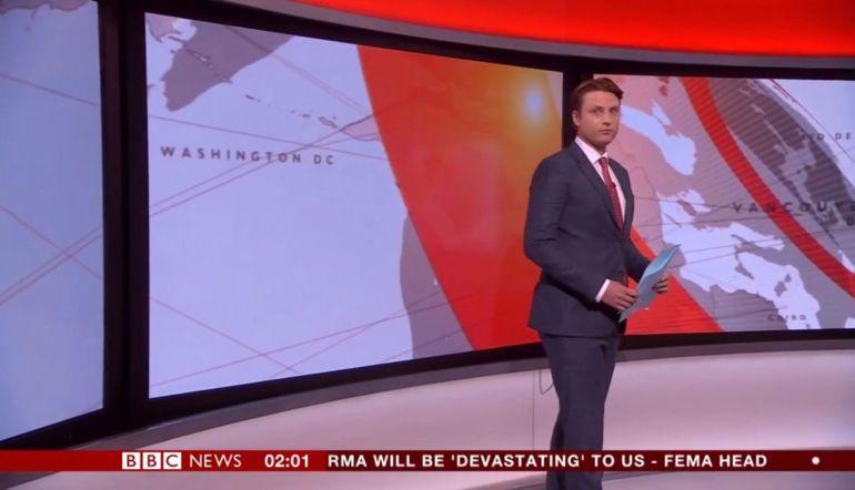 BBC, presentador, errores: Presentador de BBC se confunde de cámaras durante transmisión en vivo
