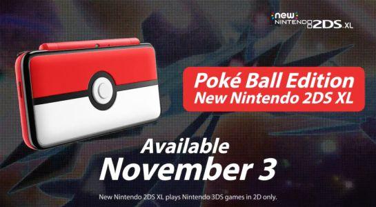 Nintendo anuncia 2DS XL edición Poké Ball