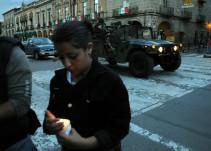 El humo de los atentados terroristas en Morelia