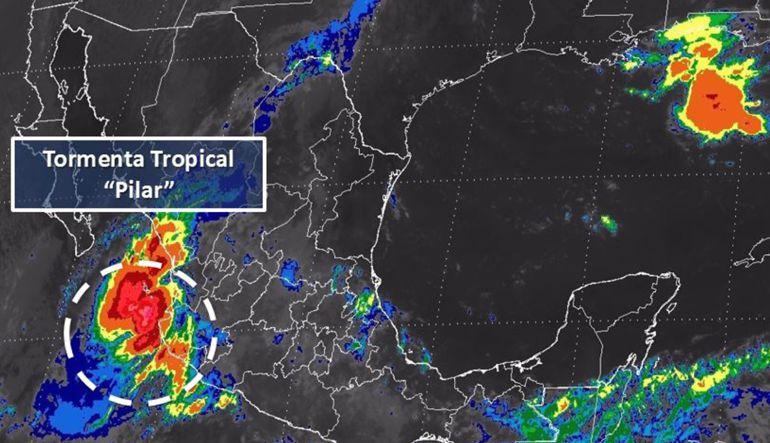 "Clima hoy,25 septiembre 2017: Lluvias fuertes en al menos 8 estados por tormenta tropical ""Pilar"""