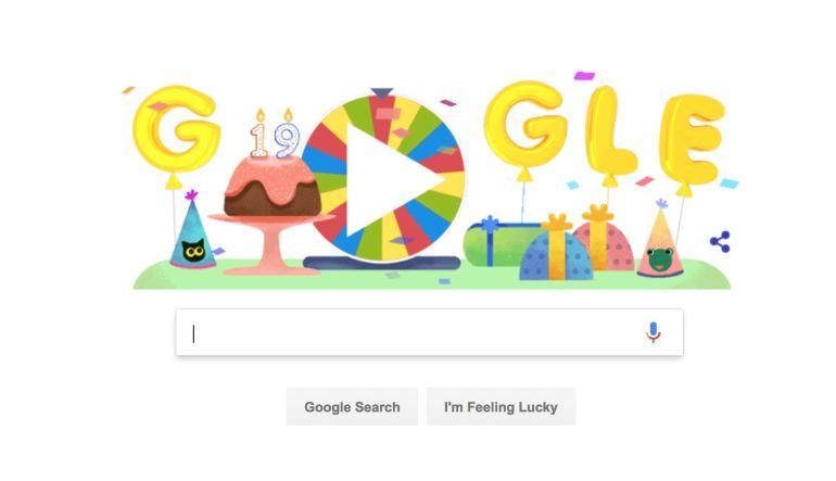 Doodle: Google celebra su cumpleaños con ruleta de la fortuna